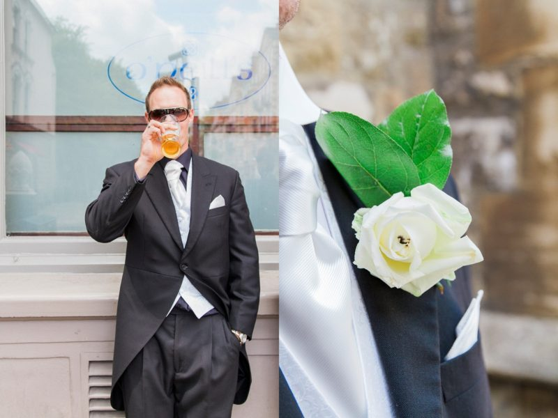 London Garden Wedding Groom Prep