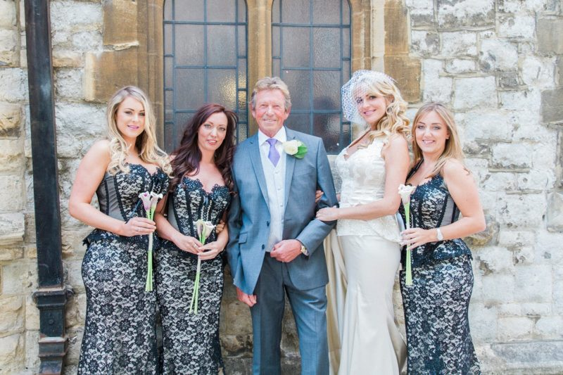 London Garden Wedding Bridal Party