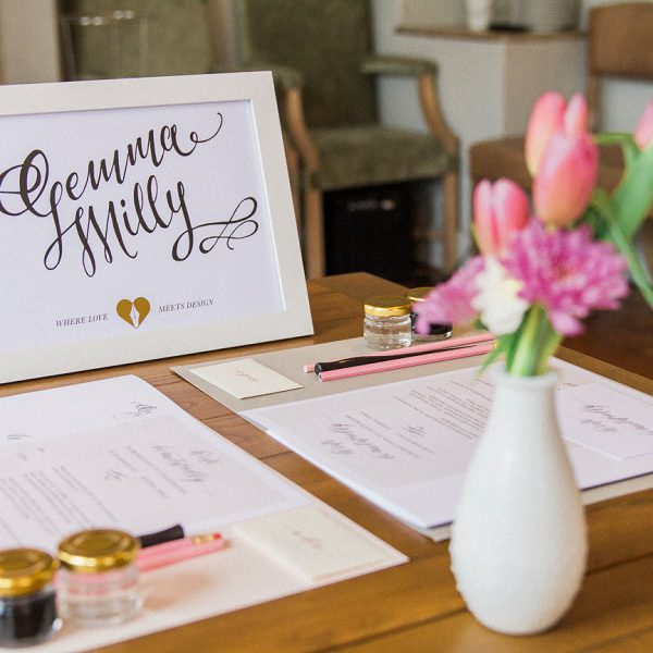 Maxeen Kim Photography, Gemma Milly Illustration, Calligraphy Workshop, The Wedding Stylist
