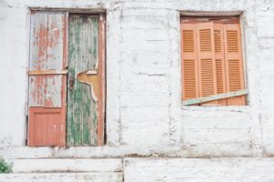 Old Doors on the Island of Ithaca in Greece by Maxeen Kim Photography