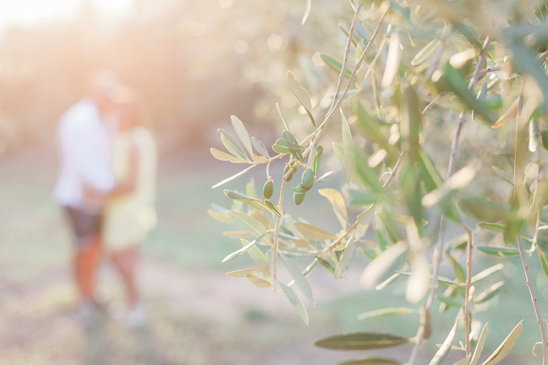 Sunset shoot of a couple in an Olive Grove by Maxeen Kim Photography