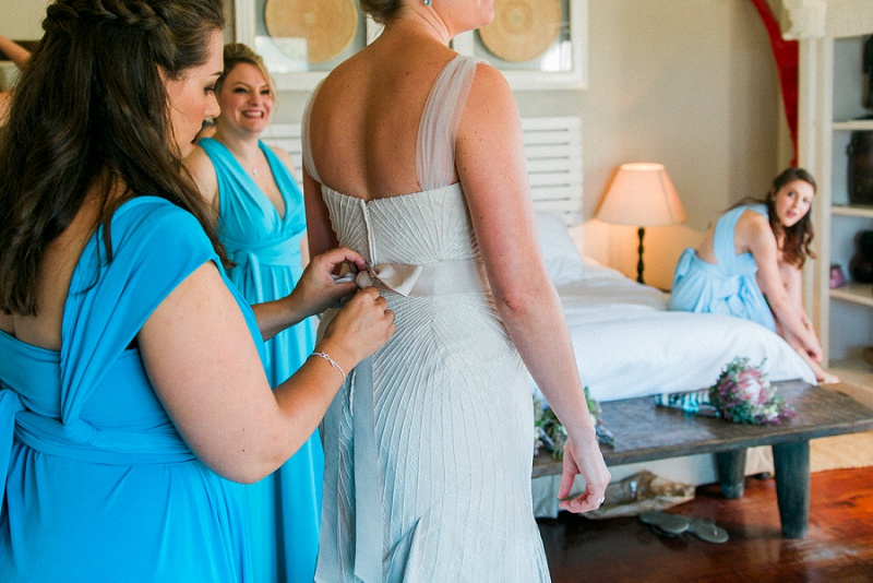 Bride Getting Ready on her Wedding Morning in South Africa by Maxeen Kim Photography