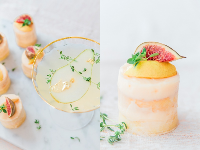 Champagne Pear Cocktail, Cocktail recipe, Maxeen Kim Photography