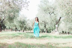Portraits of Roberta Facchini in an Olive Grove in Italy by Maxeen Kim Photography