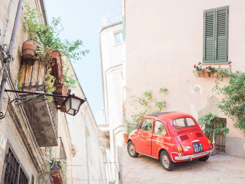 Vasto, Italy, stone, Travel, red fiat