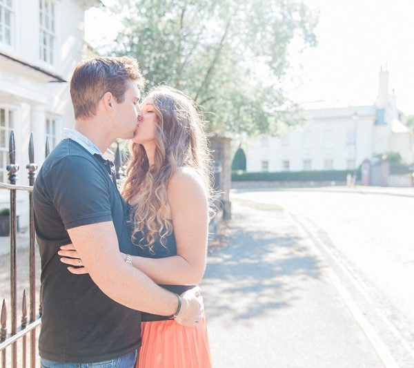 Cute Couple Kissing on West Malling High Street