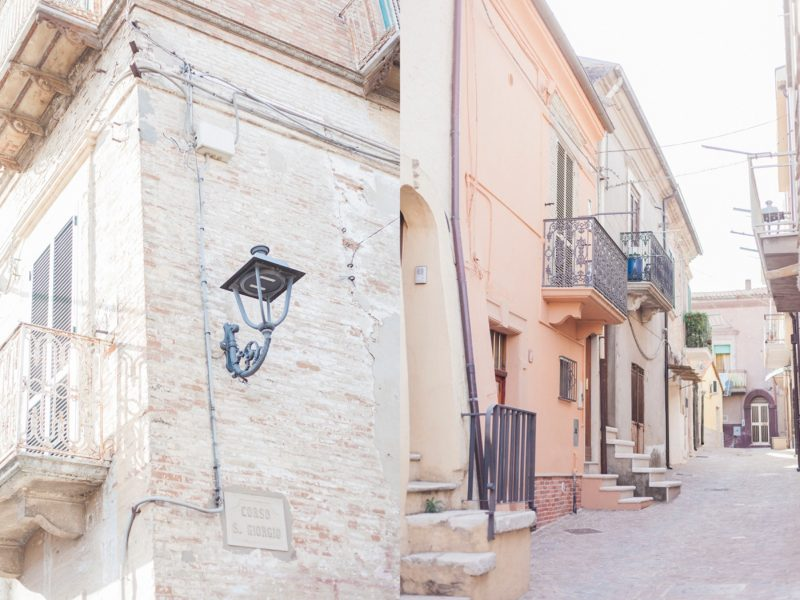 Street lamps in Chieuti Italy