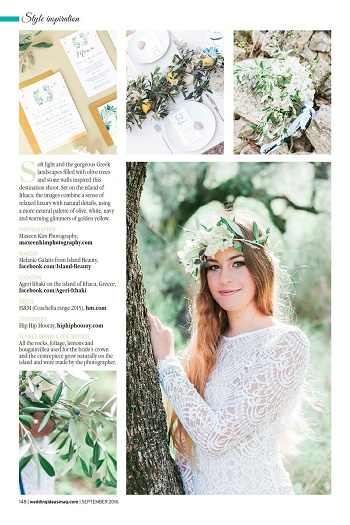 Maxeen Kim - Luxury Greek and UK Wedding Photographer Featured in Wedding Ideas Magazine Page 2