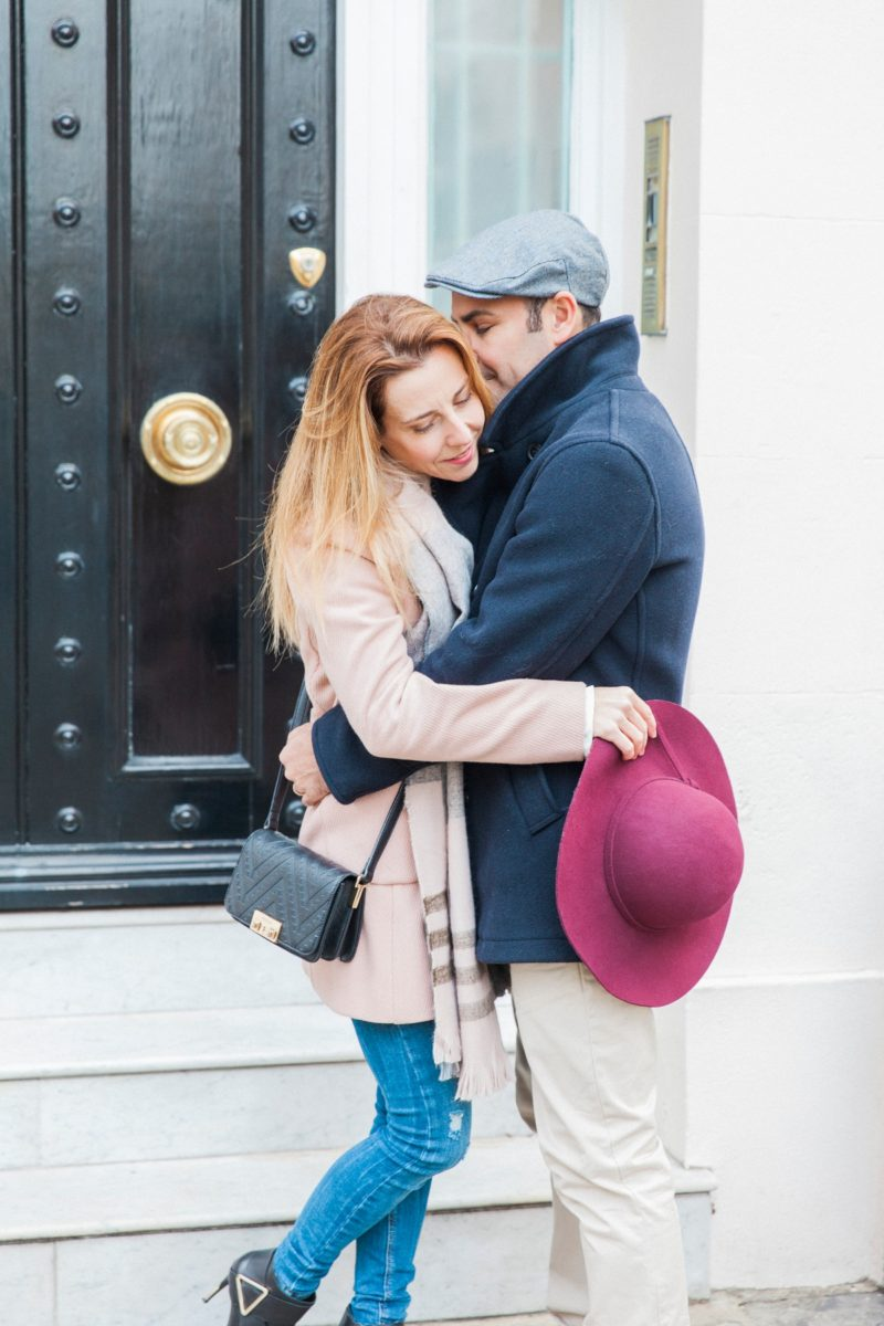 Romantic Autumn Belgravia Couple Shoot