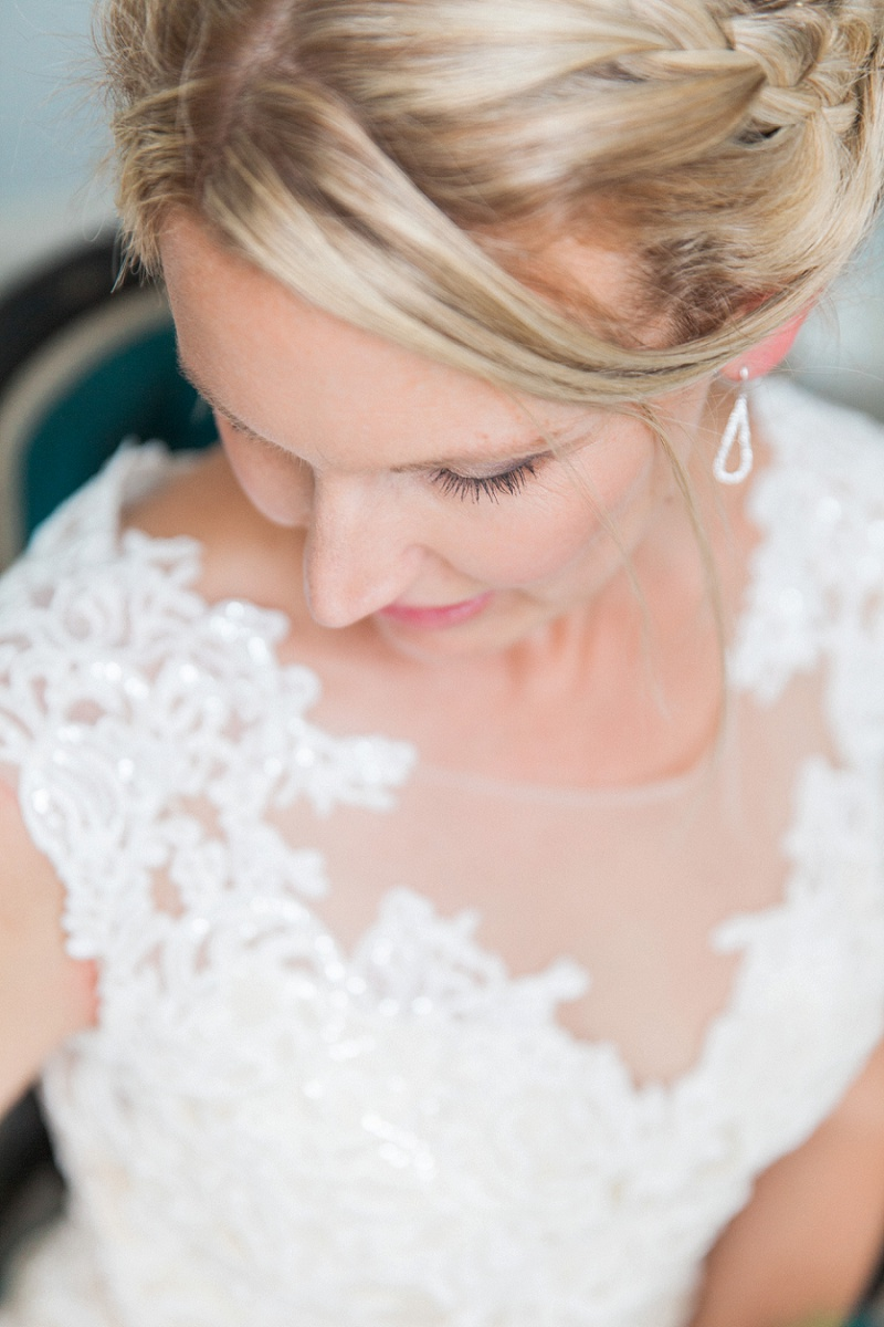 Beautiful Bride in Her Maggie Sottero Dress