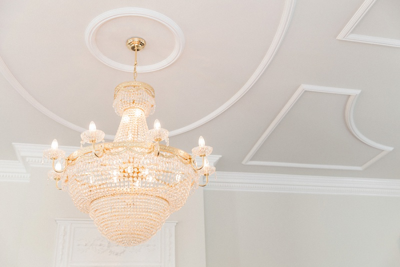 Elegant Chandelier In the Reception Room of Belair House