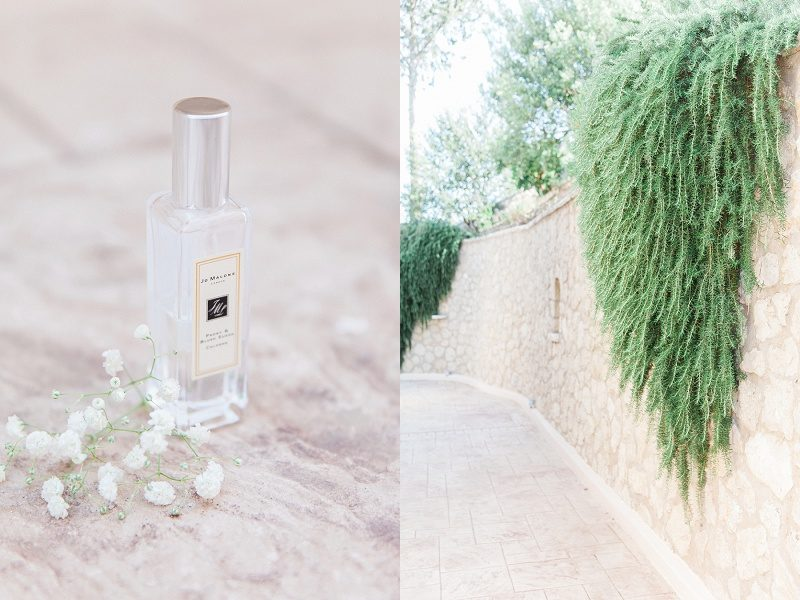 Brides Jo Malone Perfume at Thea Resort on Lefkada