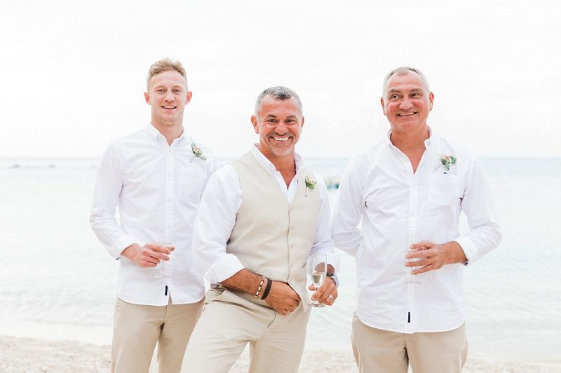 Groom and His Groomsmen on Agios Nikitas Beach