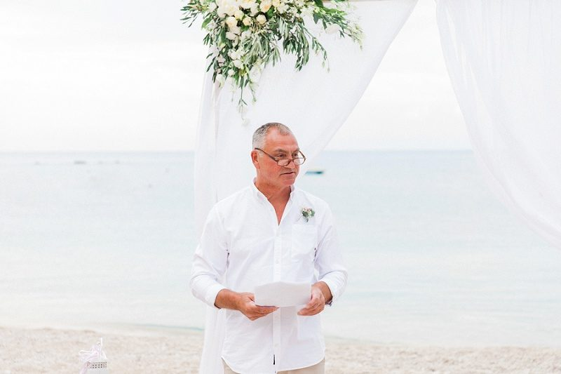 Best Man During His Speech on Agios Nikitas Beach