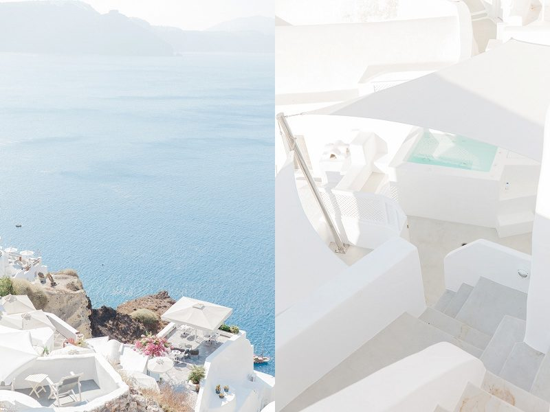 Plunge Pool and Umbrella Balcony in Oia Santorini