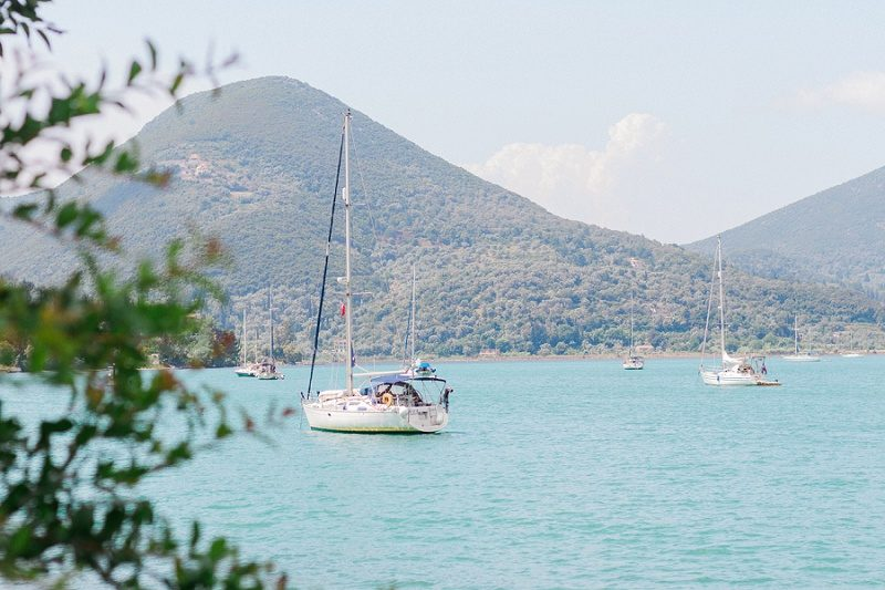 Yachts in the Bay in Geni, Lefkada