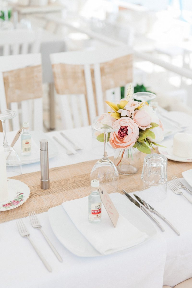 Peony and Ouzo Details at an Intimate Vintage Wedding in Lefkada