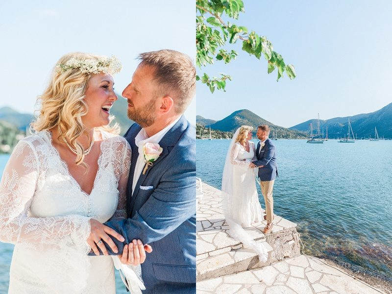 Bride and Groom Portraits at SeaSide Restaurant