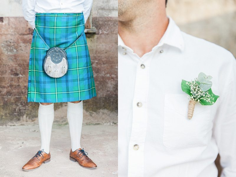 Grooms Details: Kilt and Buttonhole